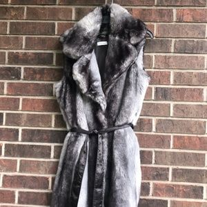 Deliciously Soft Calvin Klein Faux Fur Vest Large